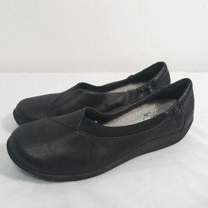 Clarks Cloud Steppers Black Womens 7.5 M Shoes